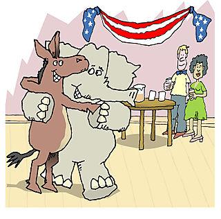 Elephant&donkeyDancing